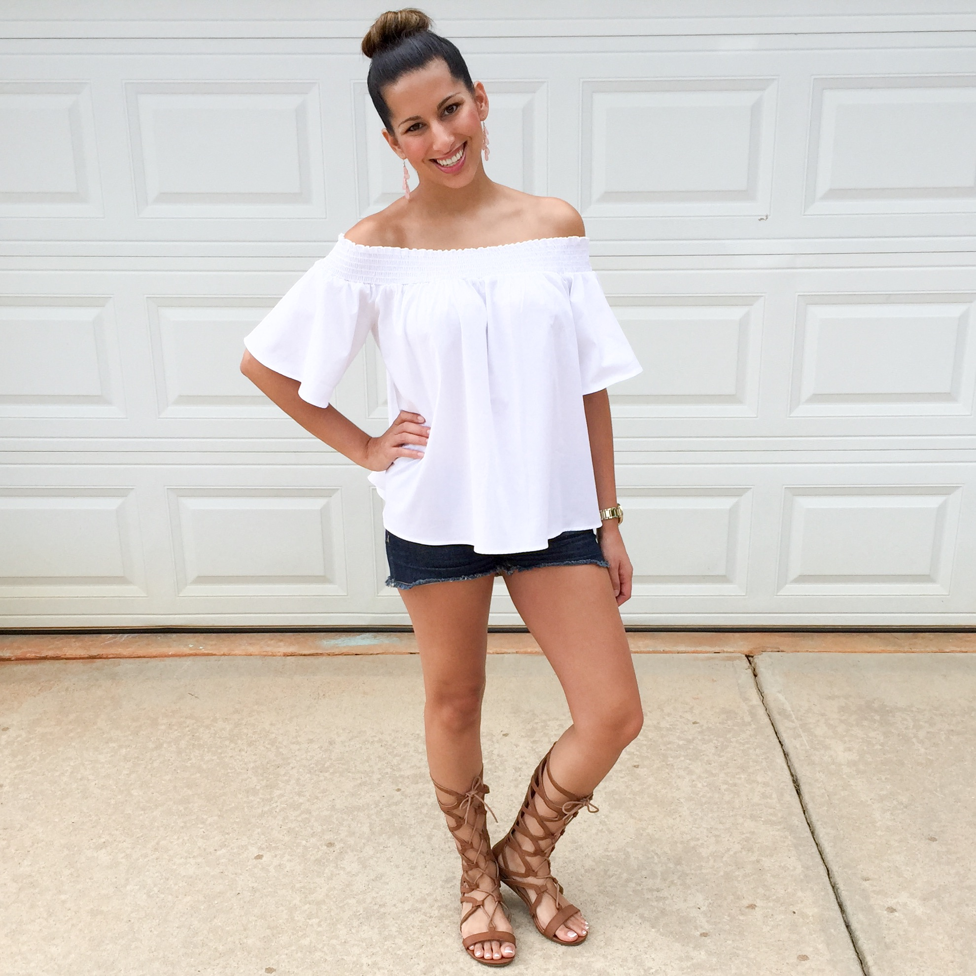 White Off-Shoulder Top - Women's