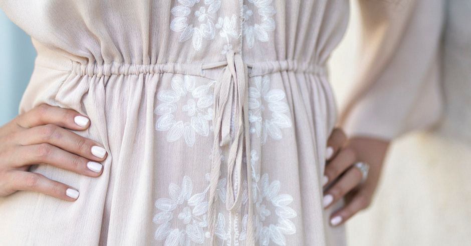 What I'm Wearing: Boho Embroidered Midi Dress from BB Styled Boutique