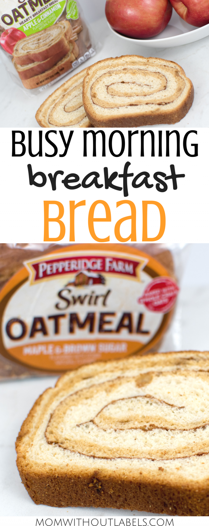 Busy Morning Breakfast Bread | Pepperidge Farm Swirl Oatmeal Bread