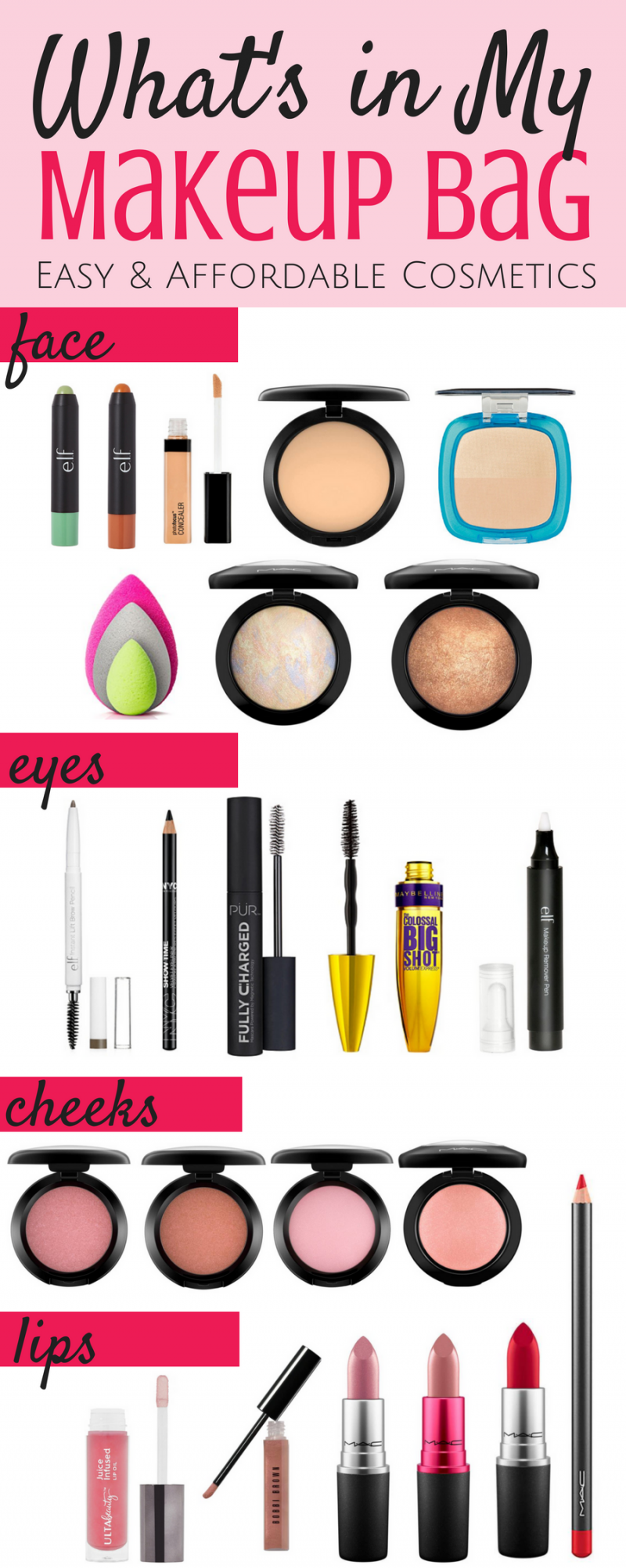 What's in My Makeup Bag: Easy Affordable Cosmetics