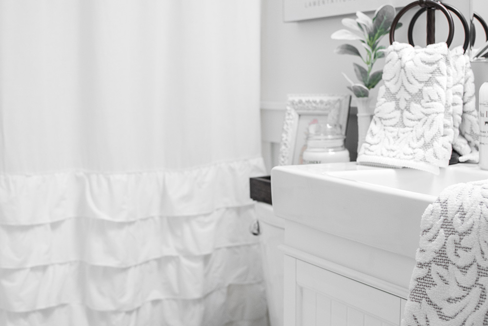 Our White-On-White Guest Bathroom Makeover